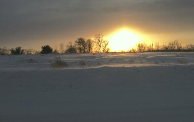 Blizzard Sunset