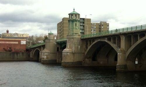 The Bradford Bridge, looking north toward downtown Haverhill