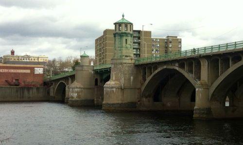 The Bradford Bridge, looking north toward downtown Haverhill