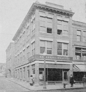 Haverhill Gazette building in 1919