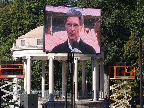 John Henry at celebration of the Red Sox' 2007 World Series victory.