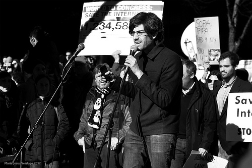 Aaron Swartz speaking in 2012