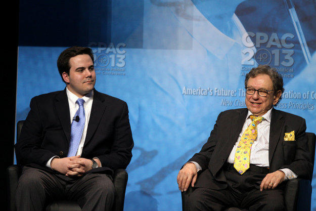 Robert Costa (left) and Ralph Hallow of The Washington Times at the CPAC 2013 conference.