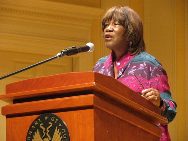 Patricia Smith reading at the Library of Congress. Photo by Slowking4. Click here for licensing information.