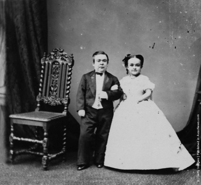 Charles Stratton (a.k.a. Tom Thumb) and his wife, Lavinia Warren