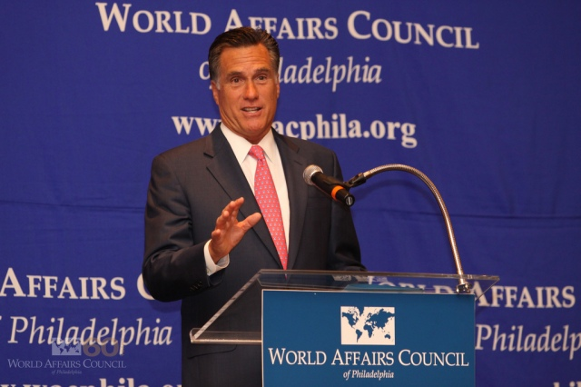 Mitt Romney in 2010. Photo (cc) by the World Affairs Council of Philadelphia.