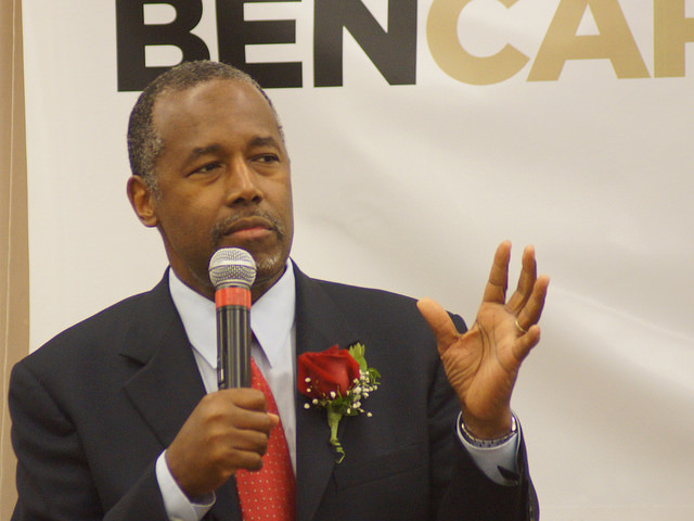Ben Carson in Nashua, New Hampshire, in July. Photo (cc) by Marc Nozell.