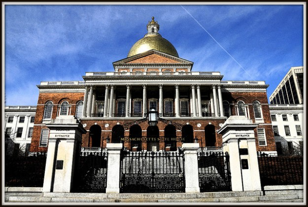 Photo of the Massachusetts Statehouse (cc) by Tony Fischer.