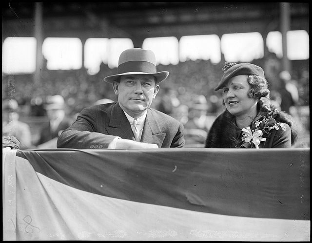 Tom Yawkey and his wife, Jean, at Fenway Park in the 1930s. Photo (cc) by the Boston Public Library
