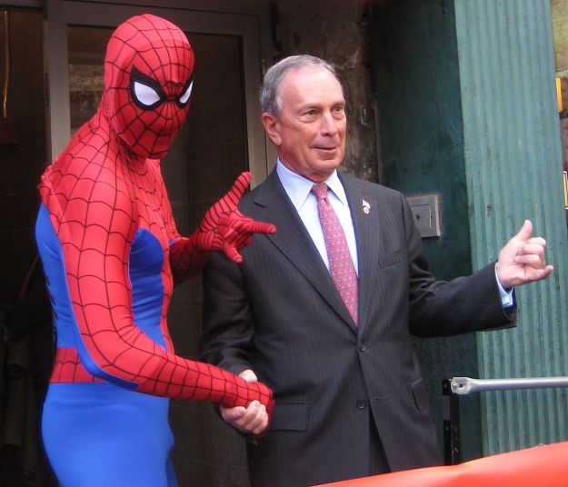 Michael Bloomberg in 2010 with possible future running mate. Photo via Wikimedia Commons.