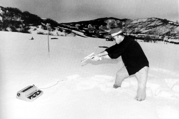 The late Hunter Thompson exercising his Second Amendment Rights. Photo (cc) by Gustavo Medde.