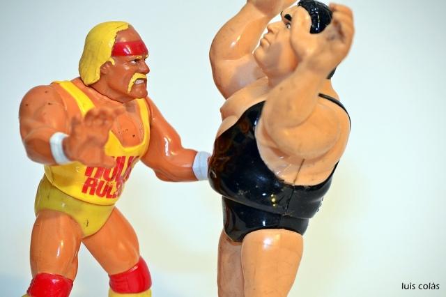 Hulk Hogan versus Andre the Giant. Photo (cc) by Luis Colás.