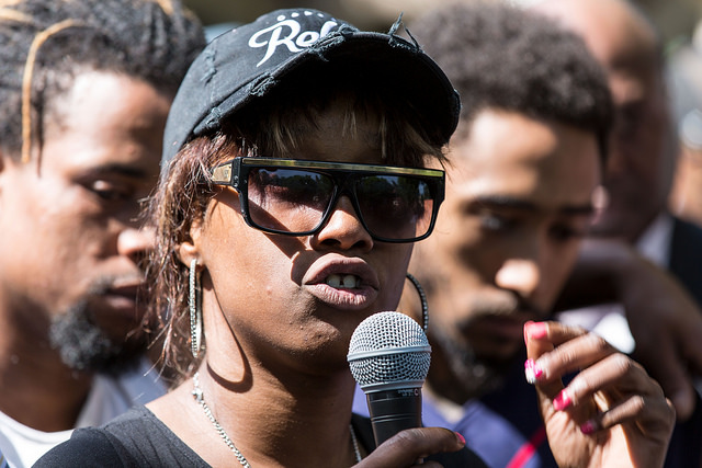 Diamond Reynolds, who live-streamed the last moments of her boyfriend, Philando Castile, on Facebook Live. Photo (cc) by Laurie Schaull.