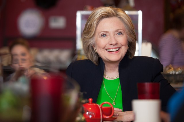 Hillary Clinton in 2015. Photo via Wikipedia.