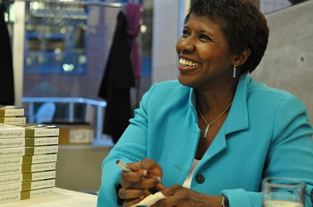 Gwen Ifill at a book-signing in Seattle. Photo (cc) by KCTS 9 Public Television.