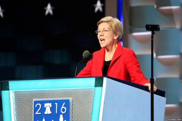 Elizabeth Warren at the 2016 Democratic National Convention. Photo via Wikimedia Commons