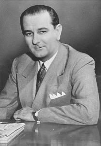 Lyndon Johnson in the 1950s. Photo via Wikimedia Commons.